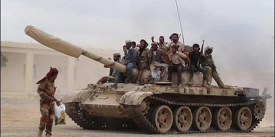 Milicianos yemeníes leales al presidente Mansour Hadi.