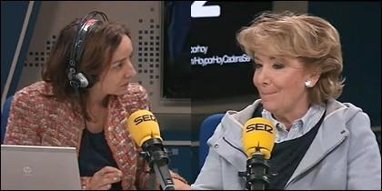 Pepa Bueno y Esperanza Aguirre.