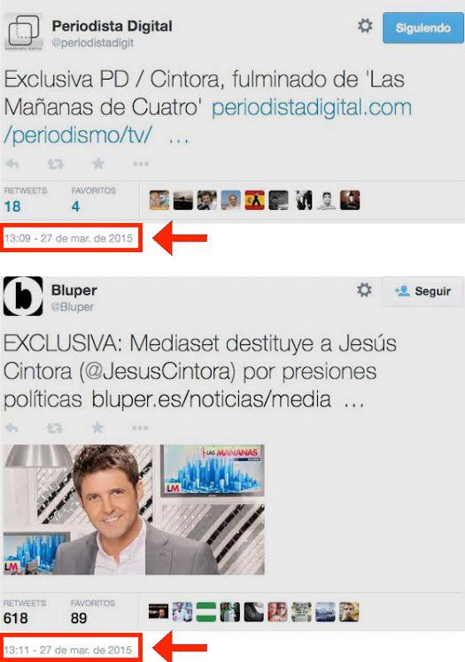 JESUS CINTORRA FULMINADO DE: 'Las Mañanas de Cuatro' Twits-cintora