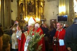 Monseñor Gutiérrez bendice los ramos en San Antón