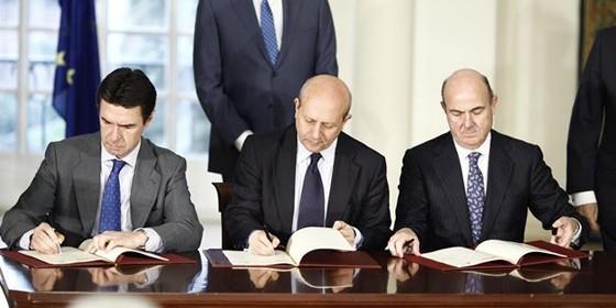 José Ignacio Wert, José Manuel Soria y Luis de Guindos