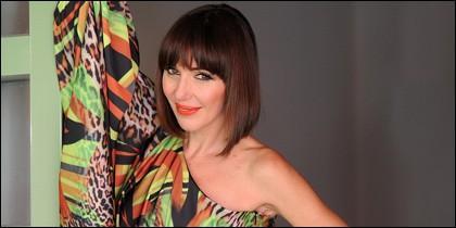 Ania Iglesias, con vestido Vertize Gala.