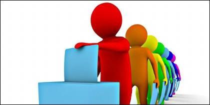 Elecciones, voto, urna, partidos, sondeo y política.