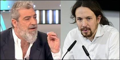 Miguel Ángel Rodríguez y Pablo Iglesias.