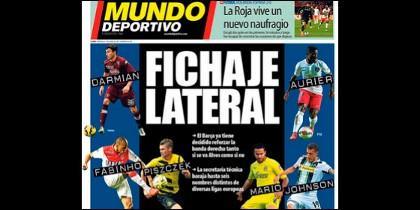 Portada del diario Mundo Deportivo.