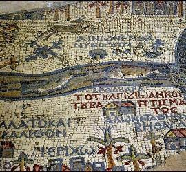 El mapa más antiguo de Tierra Santa