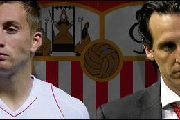 Unai Emery y Deulofeu.