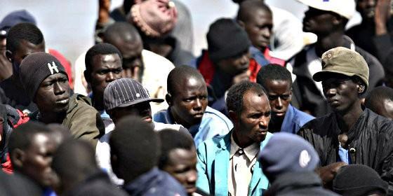 Inmigrantes subsaharianos.