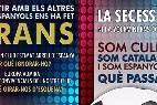 Los folletos de SCC repartidos a la entrada del Camp Nou del Barça.