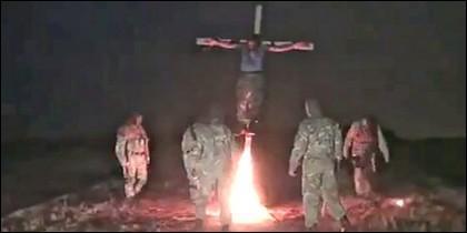 El prorruso crucificado