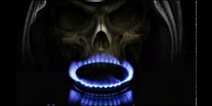 Muerte 'dulce': asfixia por monóxido de carbono.