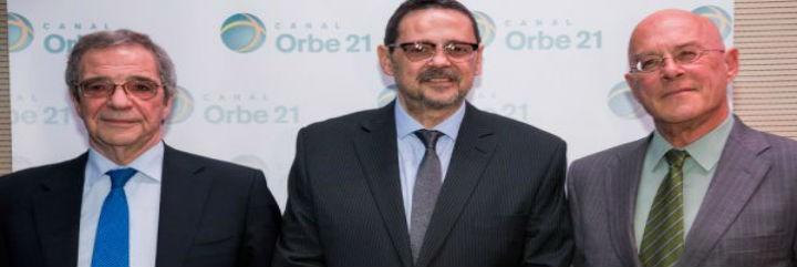 César Alierta, Julio Rimoldi y Luis Ariño
