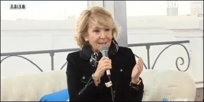 Esperanza Aguirre, candidata del PP.