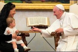 El Papa, con la Reina de Suecia