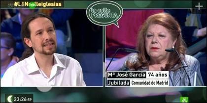Pablo Iglesias y María José Cortés.