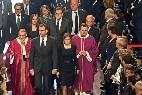 Sistach, con los Reyes a la entrada en la basílica