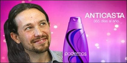El champú 'anticasta' de Podemos