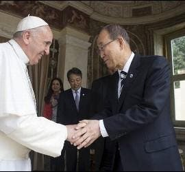 Francisco y Ban Ki-Moon