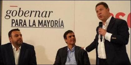 José Luis Blanco, Pedro Sánchez y Emiliano García-Page.