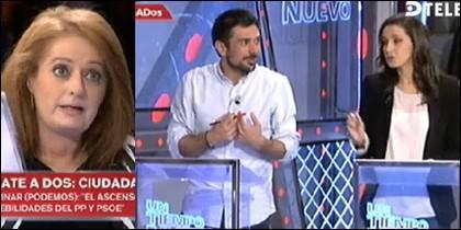 Alicia Gutiérrez 'definiendo' a Espinar y Arrimadas.