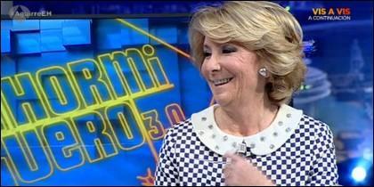 Esperanza Aguirre en 'El Hormiguero'.