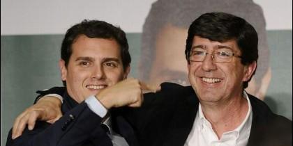 Albert Rivera, líder de Ciudadanos, con Juan Marín.