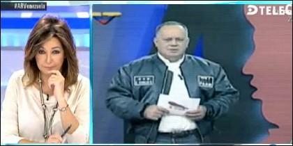 Ana Rosa Quintana y Diosdado Cabello.
