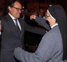 Artur Mas, con Lucía Caram
