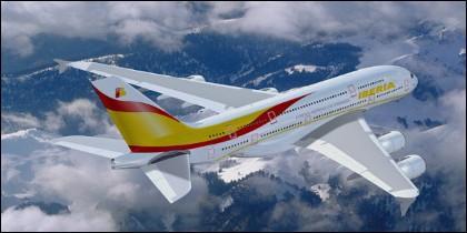 Un Airbus de Iberia