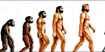 La evolución del hombre, desde el mono al robot.