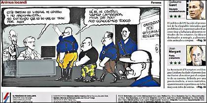 Viñeta de Ferreres publicada por 'El Periódico' en la jornada de reflexión de las elecciones municipales del 24M.