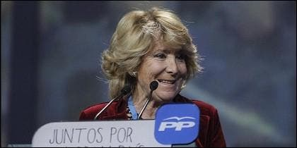 Esperanza Aguirre, candidata del PP en Madrid.