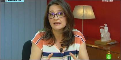 La candidata de Compromís a la Comunidad Valenciana.