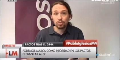 El eurodiputado Pablo Iglesias.