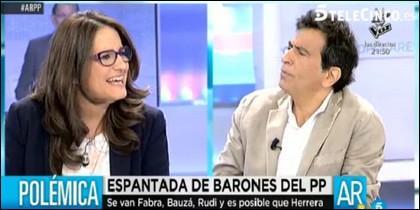 Arcadi Espada no oculta su cabreo con Mónica Oltra.