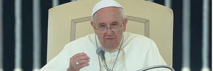 Francisco, durante la audiencia de hoy