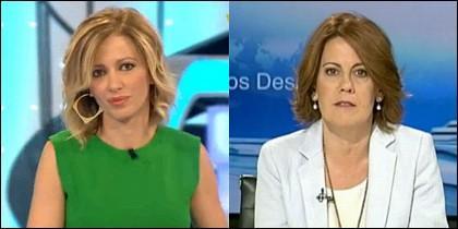Susanna Griso ('Espejo Público) y Yolanda Barcina (UPN).