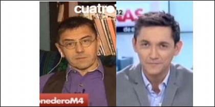 Juan Carlos Monedero y Javier Ruiz.