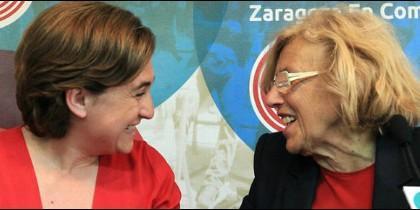 Colau y Carmena, tapaderas electorales de Podemos.