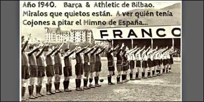 La Copa del REY, cuando se llamaba Copa del Generalísimo y una de las bromas que circulan por la redes sociales tras la pitada al Himno de España en el Camp Nou.