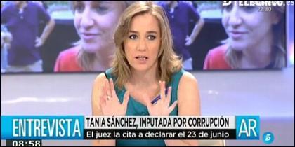 Tania Sánchez y Alexis Tsipras.