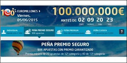 Súper Bote de 100 Millones el 5 de junio