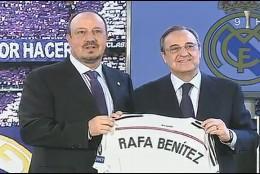 Rafa Benítez y Florentino Pérez.