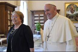 Papa y M Bachelet