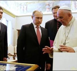 Putin y Francisco, cara a cara