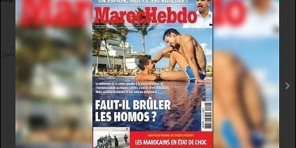 Portada sobre los homosexuales de la revista marroquí Maroc Hebdo.