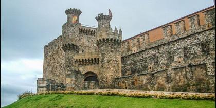Monumental castillo templario de Ponferrada.