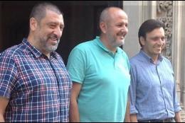 Miquel Enseñat, junto a Francesc Miralles y Jesús Jurado