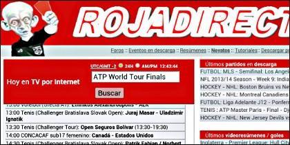 La web 'rojadirecta', para ver partidos gratis en Internet.