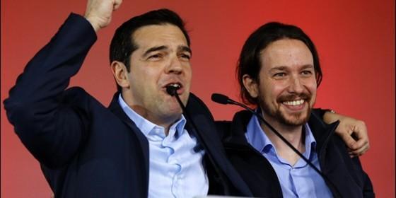 Alexis Tsipras (Tsipras)y Pablo Iglesias (Podemos).